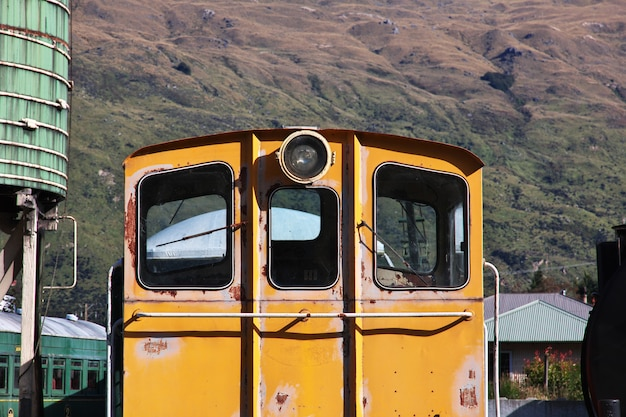 Kingston flyer - alter zug in queenstown, neuseeland