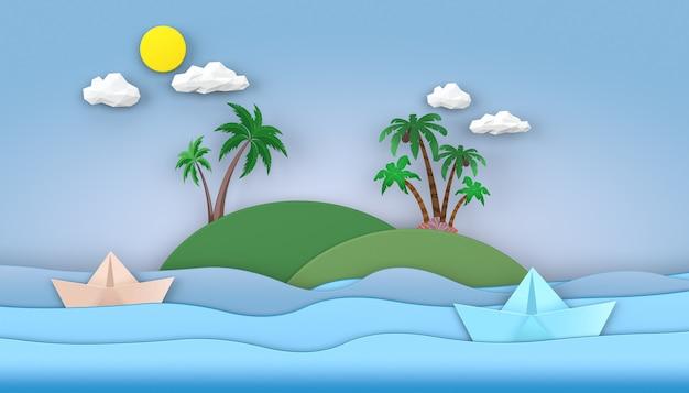 Kino 4d-rendering des sommermeerwasser-illustrationshintergrundes