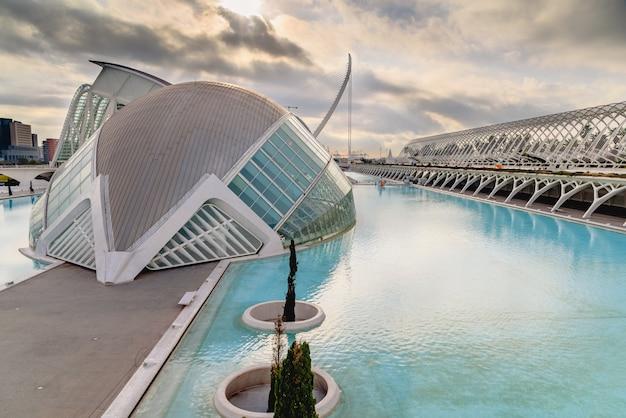 Kino in der stadt der wissenschaften von valencia, spanien