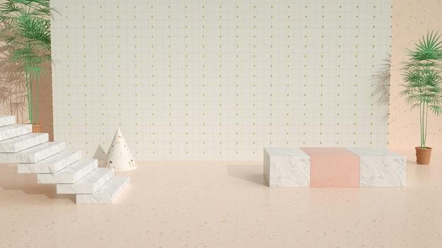 Kino-rendering der abstrakten geometrischen zusammenfassung für die modellanzeige