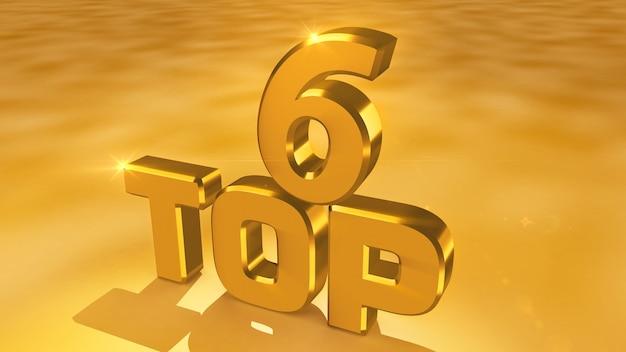 Kino-rendering von abstrakten goldmedaillen aus den top 6