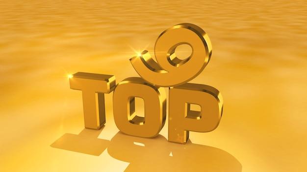 Kino-rendering von abstrakten goldmedaillen aus den top 9