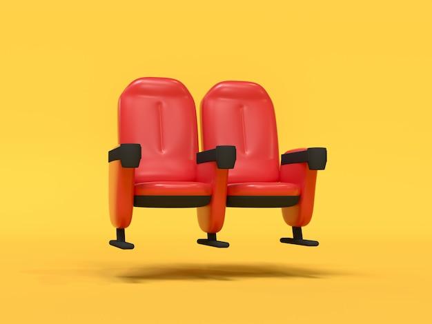 Kino stuhl abstrakte cartoon-stil
