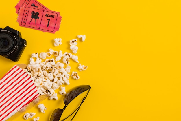 Kinokarten für kopierplätze und popcorn