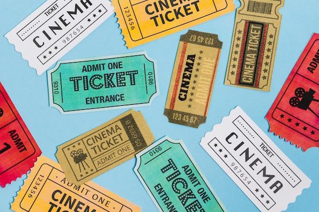 Kinokarten von oben
