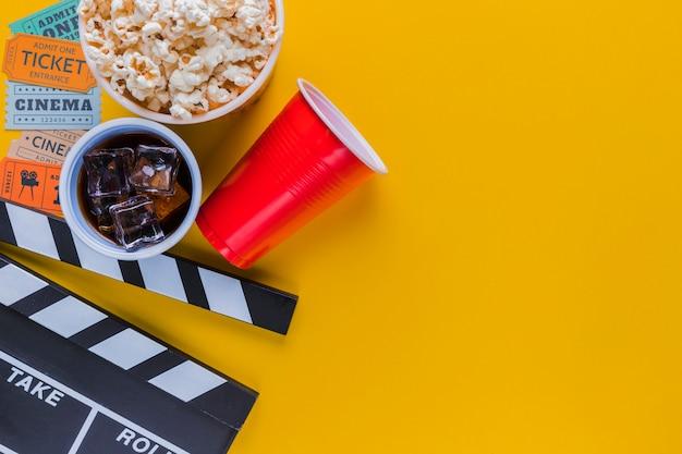 Kinomenü mit filmklappe