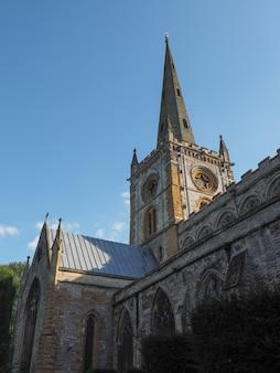Kirche der heiligen dreifaltigkeit in stratford-upon-avon