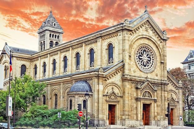 Kirche eglise notre dame des champs. paris. frankreich.