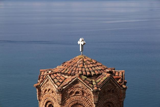 Kirche in der orchideenstadt, mazedonien