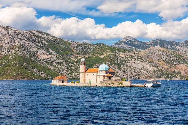 Kirche unserer lieben frau vom felsen, kotor, montenegro.