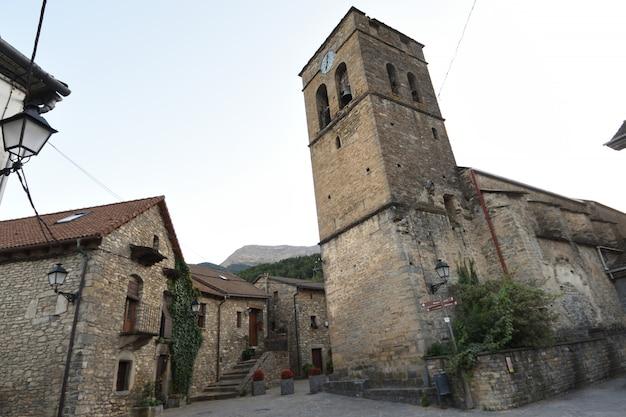 Kirche von fiscal, provinz huesca, aragonien, spanien