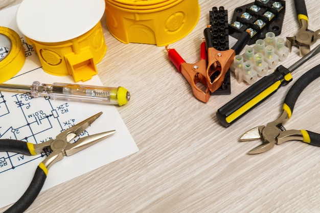 Kit ersatzteile und werkzeug für elektrische