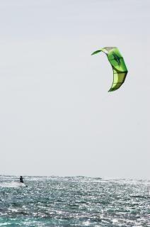 Kite-surfen, surfen