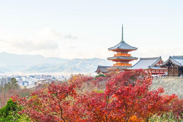 Kiyomizu oder kiyomizu-deratempel in der autum jahreszeit in kyoto.