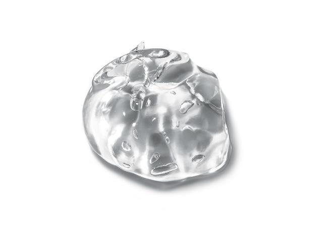 Klarer flüssiger gelabstrich isoliert auf weiß