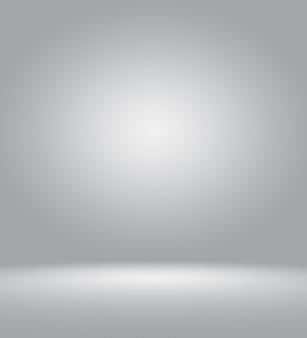 Klarer leerer fotograf studiohintergrund zusammenfassung, hintergrundtextur der schönheit dunkel und hellblau, kaltes grau, schneeweiße, flache wand und boden mit farbverlauf im leeren, geräumigen winterinnenraum.