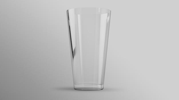 Klares glas des wasser-3d-rendering-modells