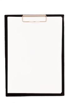 Klares papier auf einer kartentasche