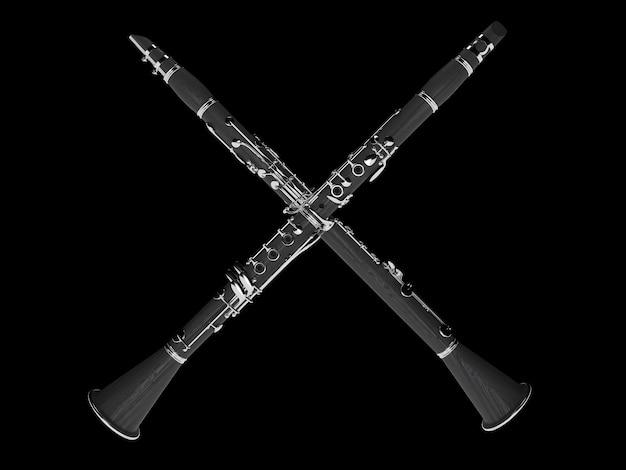 Klarinette isoliert auf schwarz