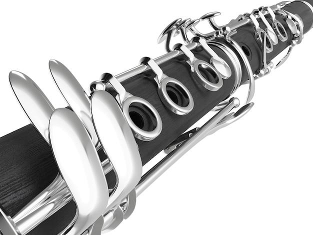 Klarinette isoliert auf weiß