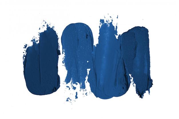 Klassische blaue pinselstriche isoliert