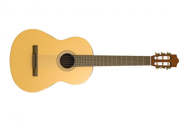 Klassische gitarre isoliert