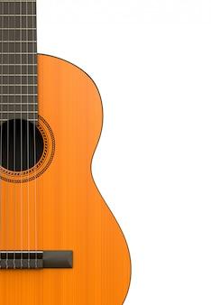 Klassische gitarrenkörper-nahaufnahme