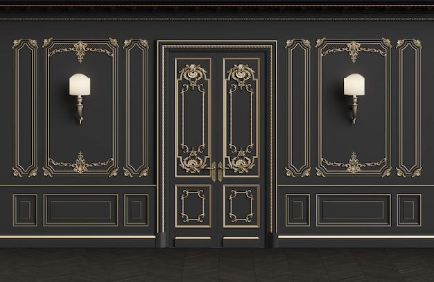 Klassische innenwände mit kopienraum