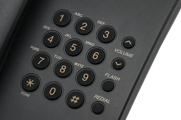 Klassische kabelgebundene telefon nahaufnahme