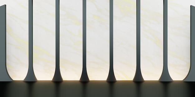 Klassische retro-stil-szene mit produktständer 3d-illustration