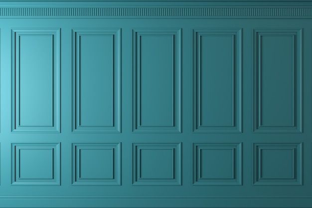 Klassische wand aus dunklen holzplatten. design und technologie