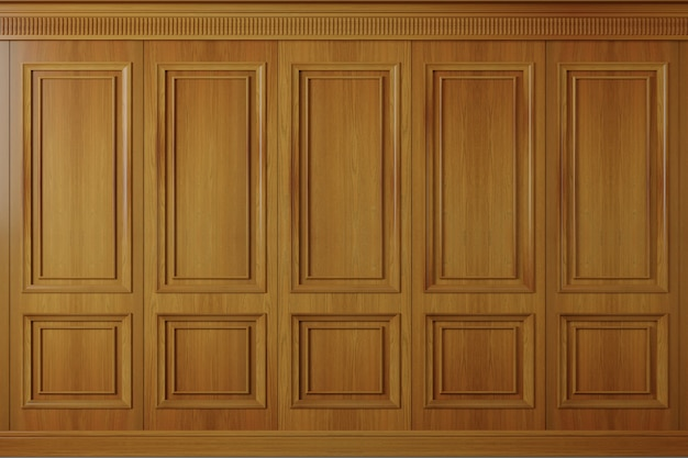 Klassische wand vintage eichenholzplatten