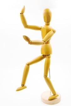 Klassischer dummy mit verschiedenen körperhaltungen