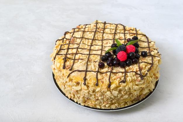 Klassischer napoleon-kuchen