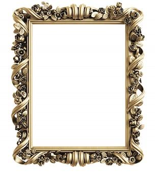 Klassischer spiegelrahmen. 3d-rendering