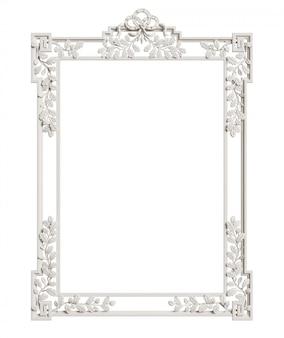 Klassischer spiegelrahmen lokalisiert. 3d-rendering
