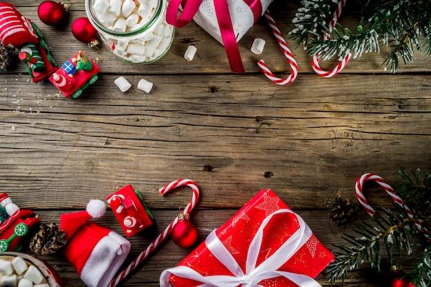 Klassischer weihnachtstisch