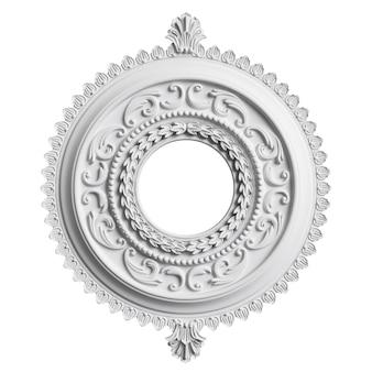 Klassischer weißer rahmen mit ornamentdekor isoliert