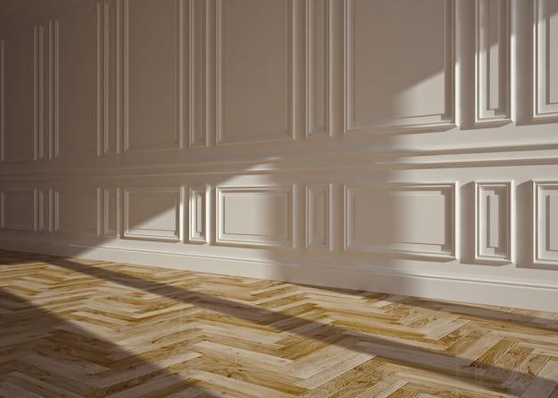 Klassisches leeres interieur, 3d-rendering