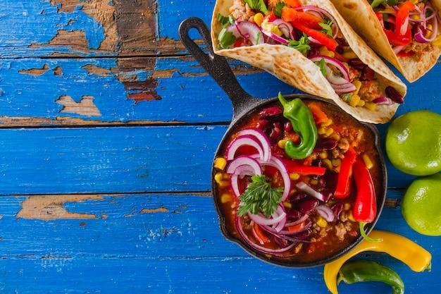 Klassisches mexikanisches essen