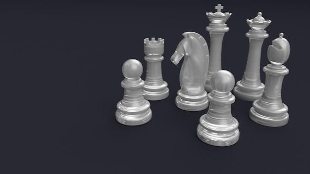 Klassisches schachbrett und figuren