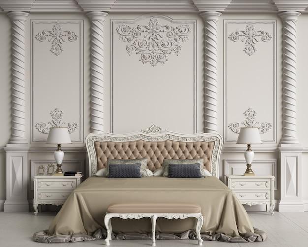 Klassisches schlafzimmer interieur mit kopierraum