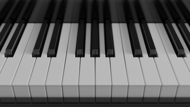 Klaviertastatur aus der nähe