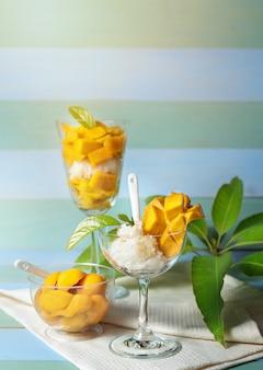 Klebreis mango