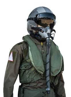 Kleidung für piloten oder piloten anzug auf weißem hintergrund