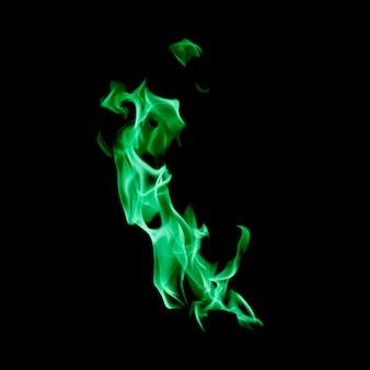 Kleine flamme von grünem feuer