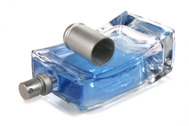 Kleine flasche mit einer parfümflüssigkeit