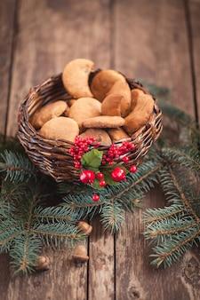 Kleine snacks für den weihnachtsmann