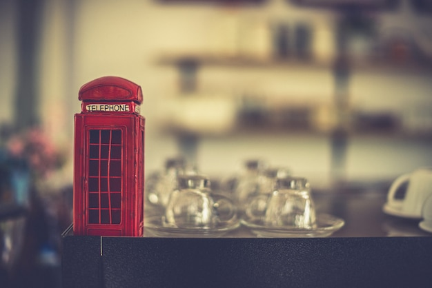 Kleine telefonzelle spielzeug