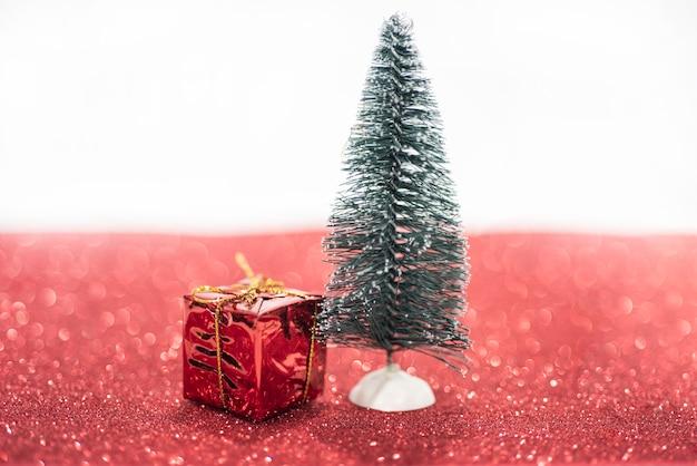 Kleine weihnachtsdekoration nahaufnahme